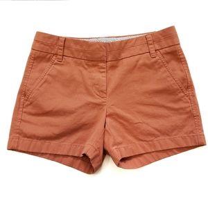 J. Crew Burnt Orange Chino Shorts